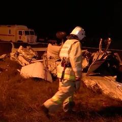 Опубліковано відео з місця падіння легкомоторного літака в Криму