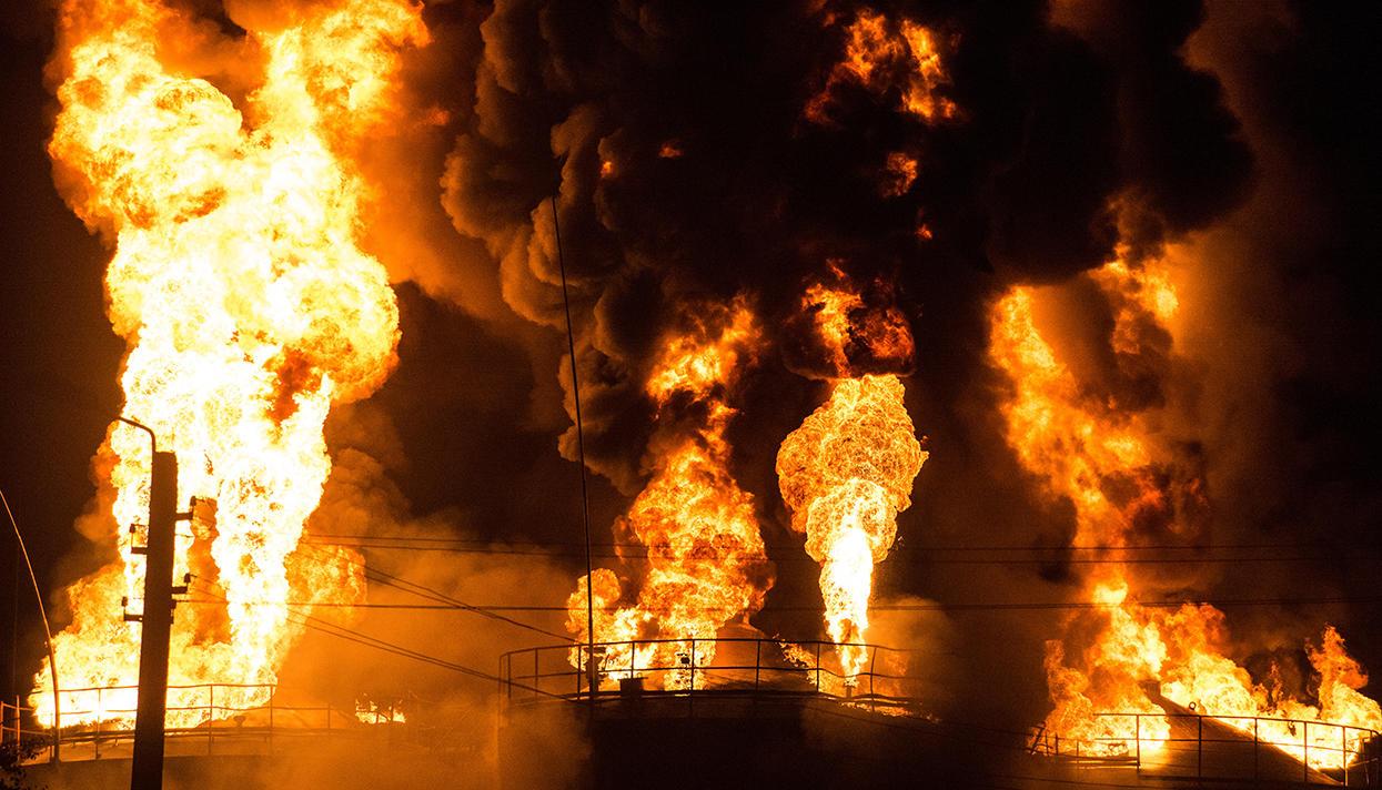 ВОдесі сталася пожежа насуперфосфатному заводі