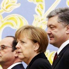 Порошенко провів телефонну розмову з лідерами Німеччини і Франції