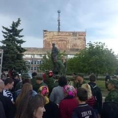 В Алчевську встановили пам'ятник командиру бойовиків Мозговому