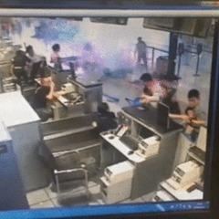 З'явилося відео моменту вибуху в аеропорту Шанхая