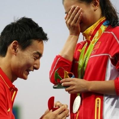 У Ріо спортсменці зробили пропозицію біля олімпійського п'єдесталу (фото)