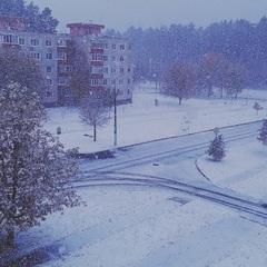 Київщину замело снігом (фото)