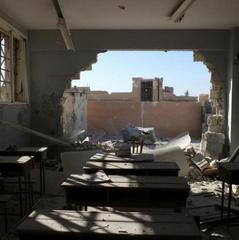 Опубліковано відео знищення школи, в якій загинули до 20 дітей