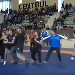 Російські та грузинські борці побилися на турнірі в Бухаресті (відео)