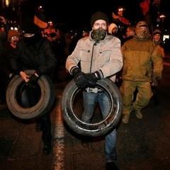 Погроми та сутички: як у Києві відзначили річницю Революції гідності (фото, відео)