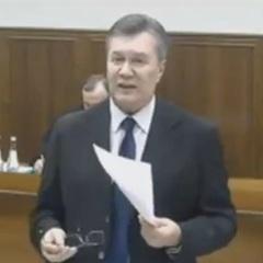 Янукович розповів, хто може бути причетний до розгону Майдану