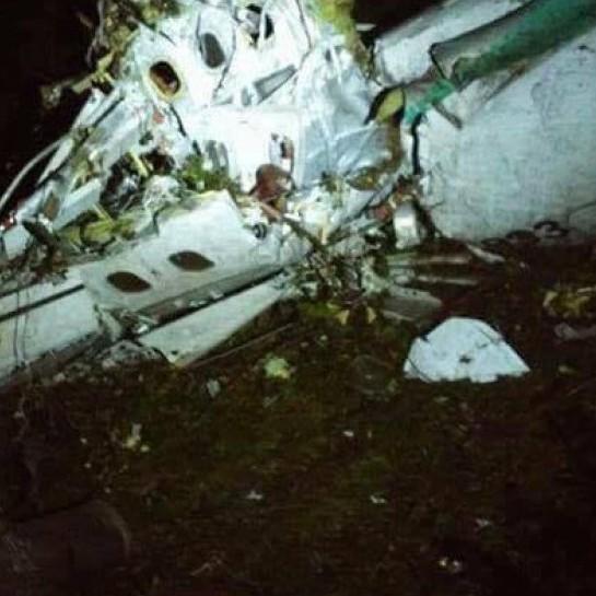 З'явилося відео місця аварії літака з бразильською футбольною командою