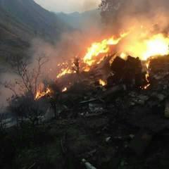 Літак, що розбився в Пакистані, майже повністю згорів (фото)