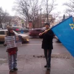 Напад на поодиноких пікетувальників у Санкт-Петербурзі