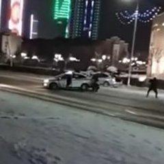 З'явилося відео обстрілу поліцейських у Грозному (відео)