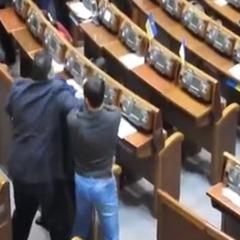 Нардепи Кішкар і Головко побилися в сесійній залі (відео)