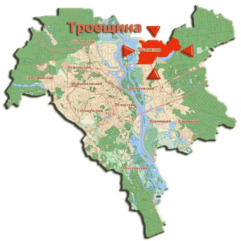 Незаконне використання двох гектарів землі на Троєщині