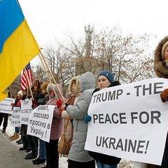 Українці організували мітинг в підтримку Трампа (фото)