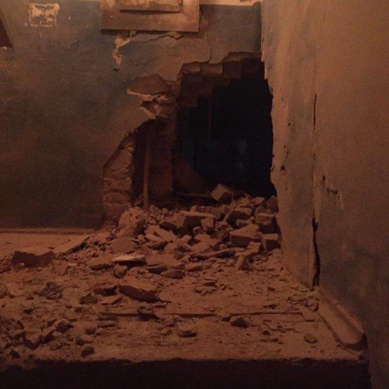 Опубліковані фото вечірнього обстрілу Авдіївки (фото)