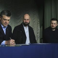 Українські націоналісти об'єдналися: Свобода, ПС та Нацкорпус підписали маніфест (фото)