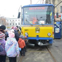 По столиці діток кататиме «Казковий трамвайчик»