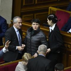 Савченко прийшла у Раду в пуховику і на високих підборах (фото)