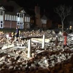 Опубліковано відео з місця вибуху в танцювальній студії у Великобританії