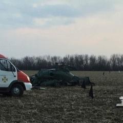 Падіння військового вертольота під Краматорськом. Опубліковано фото і відео з місця події