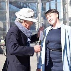 Савченко у Берліні вигуляла сукню та розповіла про свою мрію (фото)