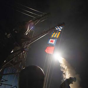 США завдали ракетний удар по авіабазі Асада в Сирії (відео)