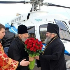Настоятель Московського патріархату прилетів на Тернопільщину гелікоптером за кілька мільйонів доларів (ФОТО)