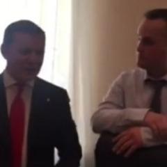 Ляшко «наїхав» на Холодницького в його кабінеті (відео)