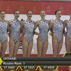 Шість з шести: українські синхроністки виграли всі золоті нагороди етапу Світової серії