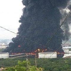 Масштабна пожежа на нафтопереробному заводі в Мексиці (фото)