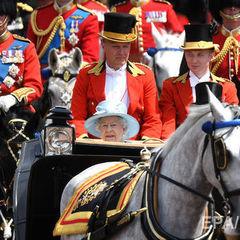 На параді на честь королеви Єлизавети II гвардієць зомлів. Відео