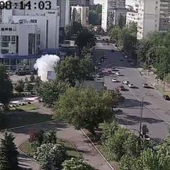 З'явилося відео вибуху автівки в Києві