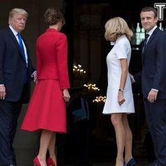 Як президенти Франції та США дружинами хизувалися (фото)