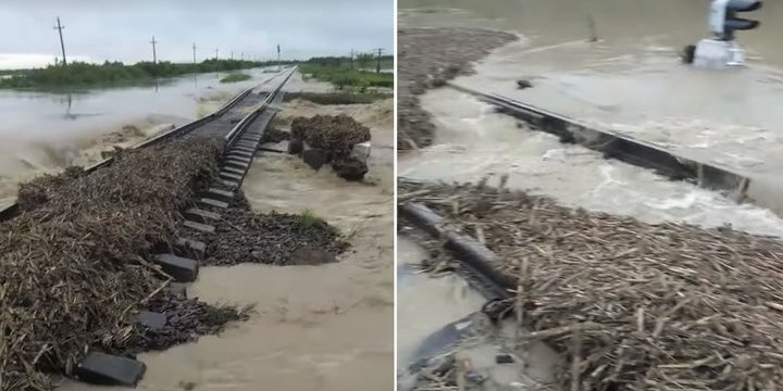 Повінь зруйнувала колію між Івано-Франківськом і Закарпаттям, потяги не курсують