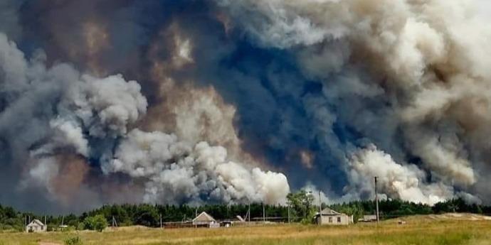 Пожежі на Луганщині: триває гасіння осередків біля трьох сіл