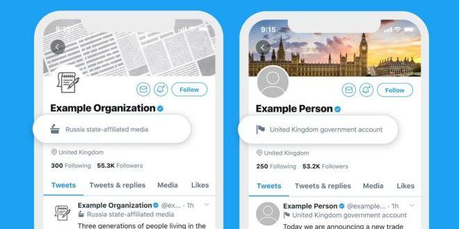 Twitter почав маркувати акаунти провладних ЗМІ