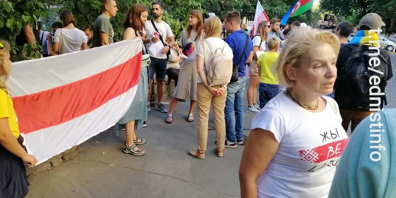 Живий ланцюг солідарності з білоруським народом в Києві. Пряма трансляція