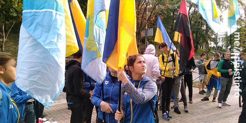 Акція на захист побитих студентів Олімпійського коледжу. Пряма трансляція