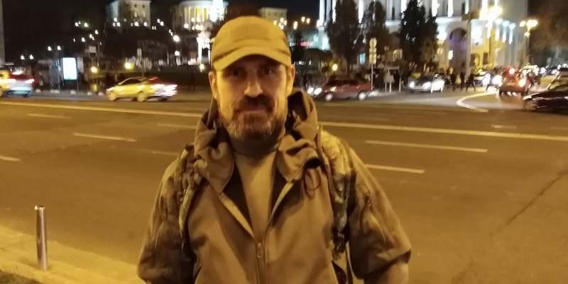 Самоспалення на Майдані Незалежності на знак протесту проти політики президента Володимира Зеленського