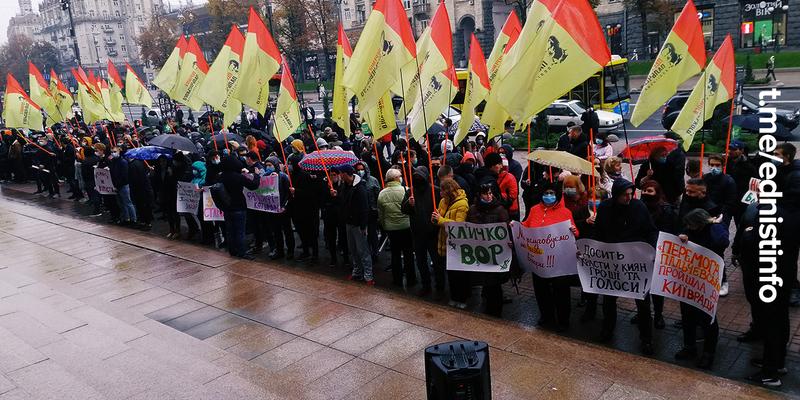 Партія «Перемога  Пальчевського» протестує проти сфальшування виборів. Пряма трансляція