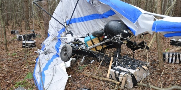 У лісосмузі на території Польщі впав дельтаплан з контрабандними цигарками