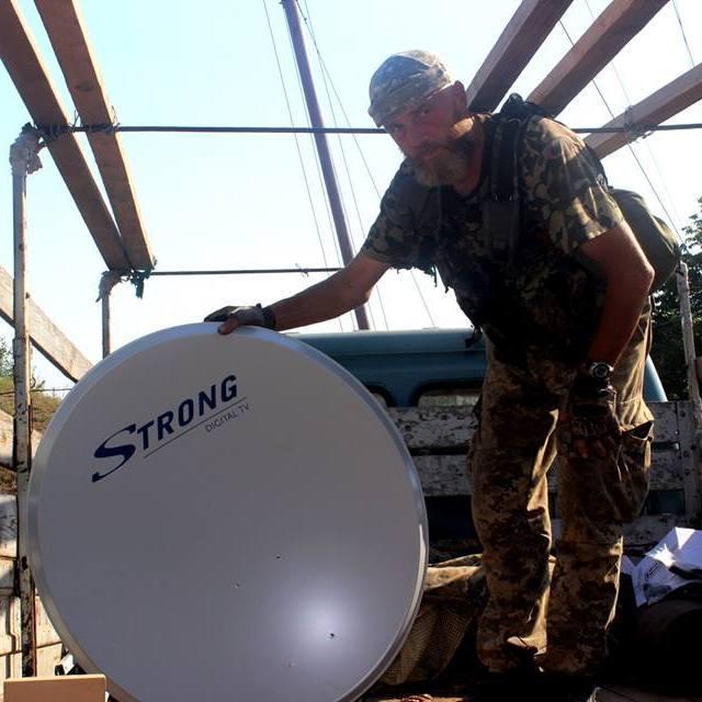 Для українських військових встановили супутникове телебачення