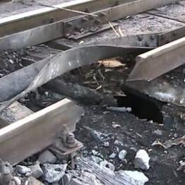 Біля Станиці Луганської підірвана залізнична колія