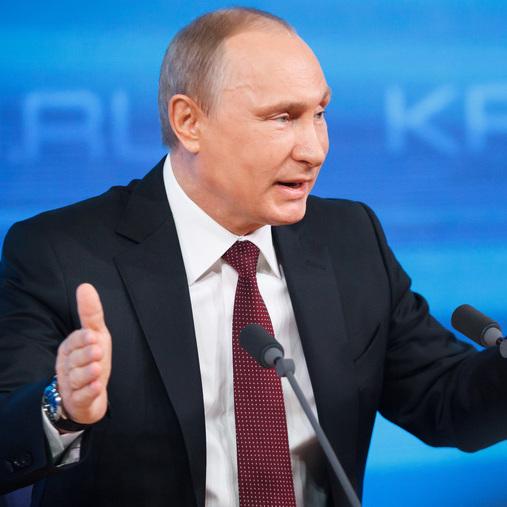 Російська молодь презентувала Путіну сокиру (фото)