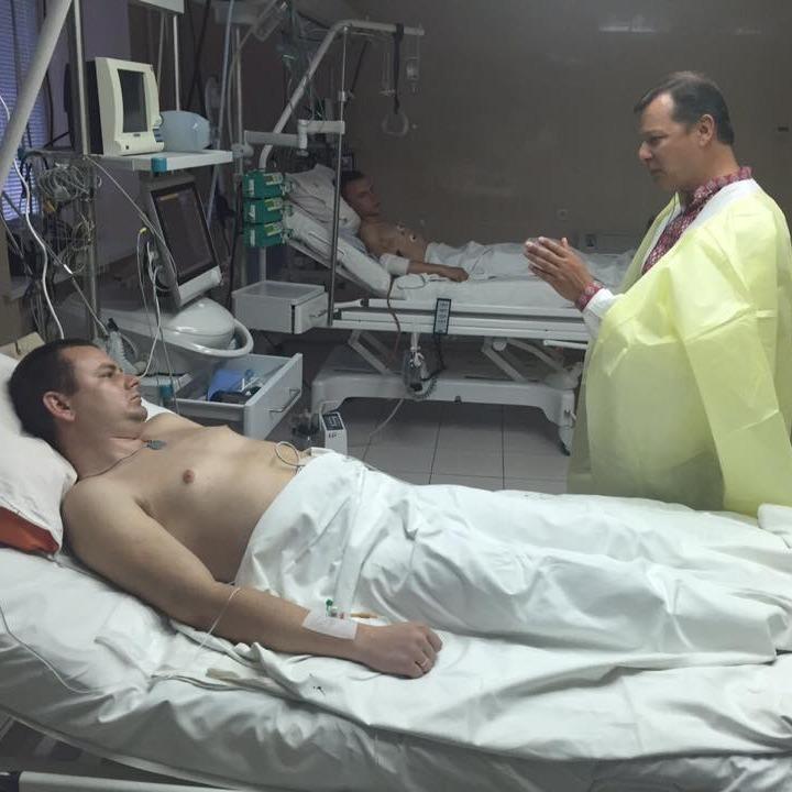 Ляшко відвідав поранених під час сутичок біля Верховної Ради