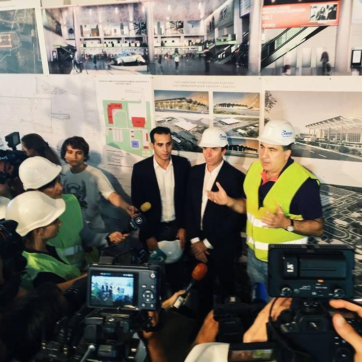 Саакашвілі проінспектував будівництво нового терміналу