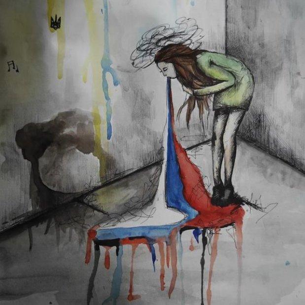 В мережі обговорюють малюнок підлітка із Луганщини