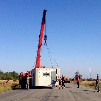 На кордоні з Кримом встановили мобільний пропускний пункт (фото)