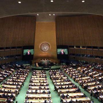 Українська делегація вийшла з залу Генасамблеї ООН перед виступом Путіна (фото)