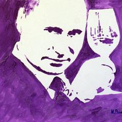 Народна любов: Украли портрет Путіна, який художниця намалювала грудьми